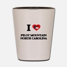 I love Pilot Mountain North Carolina Shot Glass