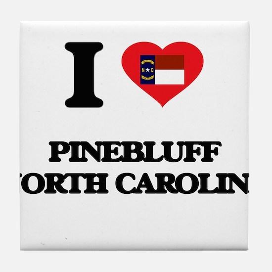 I love Pinebluff North Carolina Tile Coaster