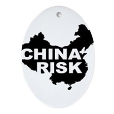 china risk Ornament (Oval)