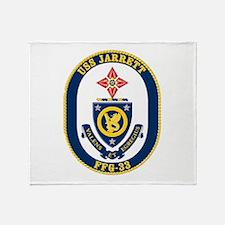 USS JARRETT Throw Blanket