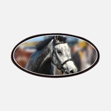 Portrait of the Grey Race Horse Patch