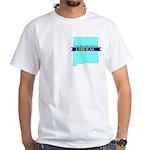 True Blue New Mexico LIBERAL - White T-Shirt