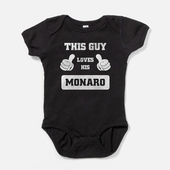 THIS GUY LOVES HIS MONARO Baby Bodysuit