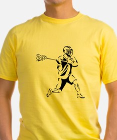 Lacrosse Player Action T