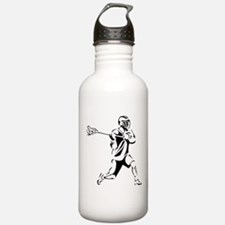 Lacrosse Player Action Water Bottle