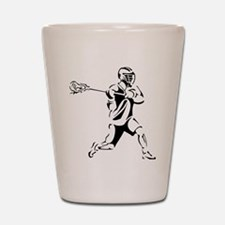 Lacrosse Player Action Shot Glass