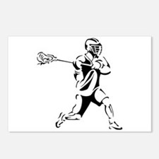Lacrosse Player Action Postcards (Package of 8)