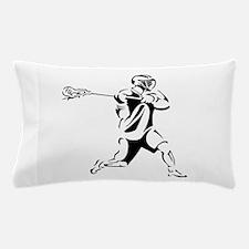 Lacrosse Player Action Pillow Case