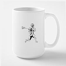 Lacrosse Player Action Large Mug
