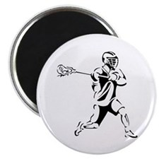 Lacrosse Player Action Magnet