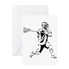 Lacrosse Player Action Greeting Card