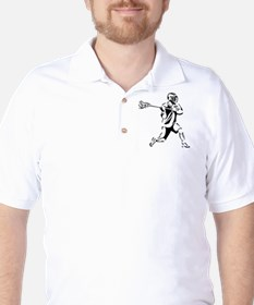 Lacrosse Player Action Golf Shirt