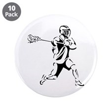 """Lacrosse Player Action 3.5"""" Button (10 pack)"""