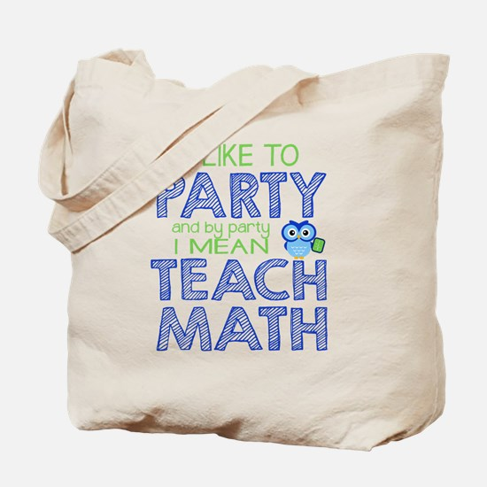 Math Party Tote Bag