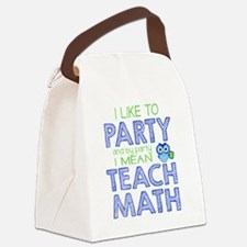 Math Party Canvas Lunch Bag
