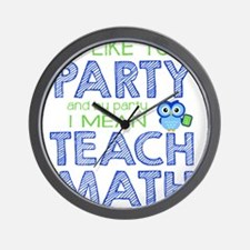 Math Party Wall Clock
