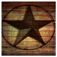 barn wood texas star Poster