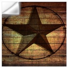 barn wood texas star Wall Decal