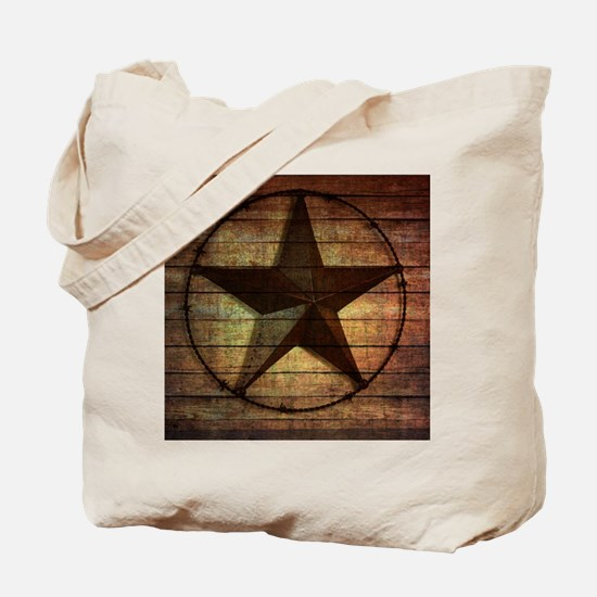 barn wood texas star Tote Bag