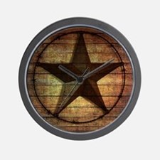 barn wood texas star Wall Clock