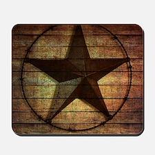 barn wood texas star Mousepad