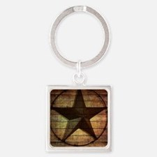 barn wood texas star Square Keychain