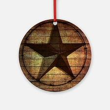 barn wood texas star Round Ornament