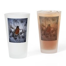 nature winter robin bird Drinking Glass