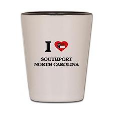 I love Southport North Carolina Shot Glass
