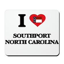 I love Southport North Carolina Mousepad