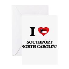 I love Southport North Carolina Greeting Cards