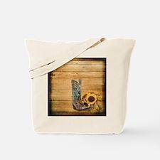 western cowboy sunflower Tote Bag