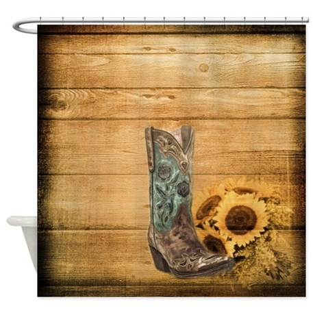 Western Cowboy Sunflower Shower Curtain By Listing Store 62325139