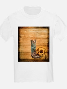 western cowboy sunflower T-Shirt