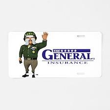 The General Logo Aluminum License Plate