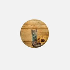 western cowboy sunflower Mini Button (100 pack)