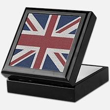 woven Union Jack flag Keepsake Box