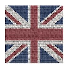 woven Union Jack flag Tile Coaster