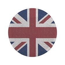 woven Union Jack flag Button