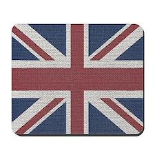 woven Union Jack flag Mousepad