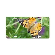 Painted Lady Butterfly Aluminum License Plate