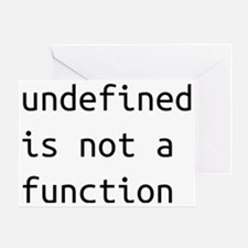 Not a function Greeting Card