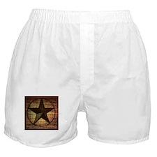 barn wood texas star Boxer Shorts