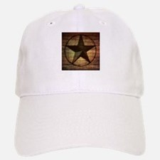 barn wood texas star Baseball Baseball Cap