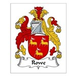 Rowe Family Crest Small Poster