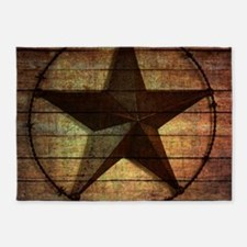 barn wood texas star 5'x7'Area Rug