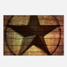 barn wood texas star Postcards (Package of 8)