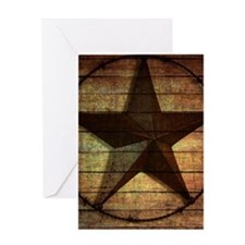 barn wood texas star Greeting Cards