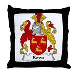Rowe Family Crest Throw Pillow