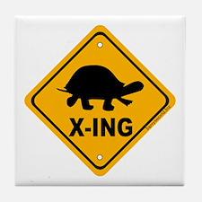 Turtle X-ing Tile Coaster